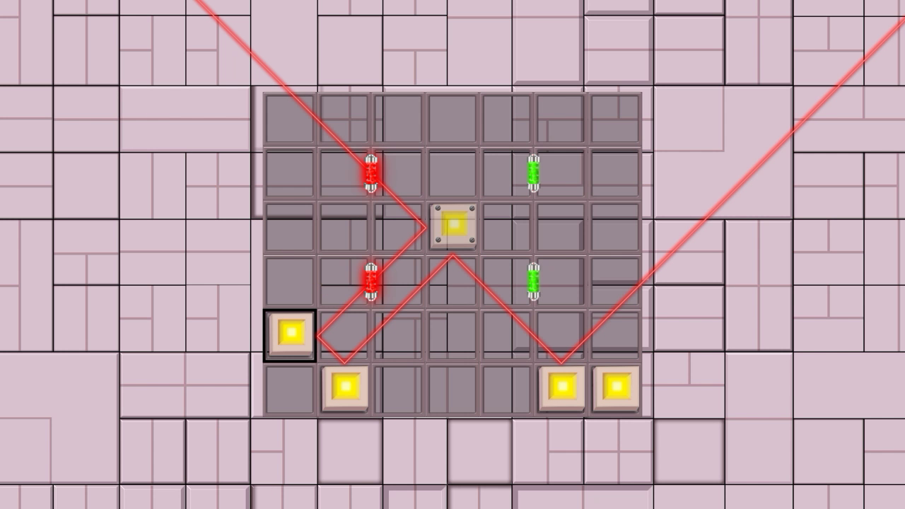 lasers and mirrors mini game